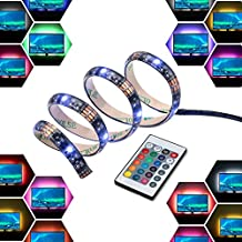 LED Strip Light Bar USB 2M 12V Bias Back RGB Light with Remote Control IP65 Waterproof, 50cm*4 Strips for TV LCD Screen Laptop Desktop PC, Better Atmosphere and Reduce Eyestrain - InnoBeta