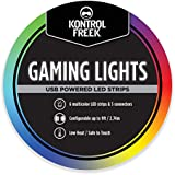 KontrolFreek Gaming Lights: LED Strip Lights, 9 FT USB Powered with Controller, 3M Adhesive for TV, Console, Wall