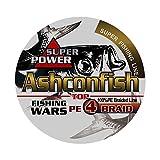 Ashconfish PEライン 4編 釣り糸 500m (0.4号 0.6号 0.8号 1号 1.2号 1.5号 2号 3号 3.5号 4号 4.5号 5号 6号 7号 8号 9号 10号) 高強度 高感度 低伸度 イエロー