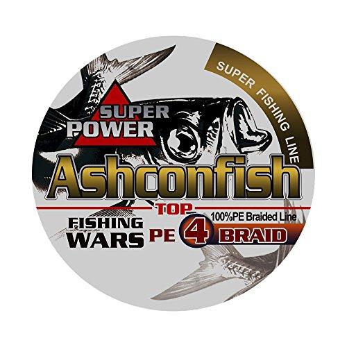 Ashconfish PEライン 4編 8編 釣り糸 500m (0.4号 0.6号 0.8号 1号 1.2号 1.5号 2号 3号 3.5号 4号 4.5号 5号 6号 7号 8号 9号 10号) 高強度 高感度 低伸度 イエロー