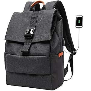 pcリュック メンズ ビジネス 防水バックパック 通勤 通学 USB充電ポート付きパソコンリュック ビジネスバッグ リュック 大容量 出張 多機能バックパック Tonsun(ブラック)