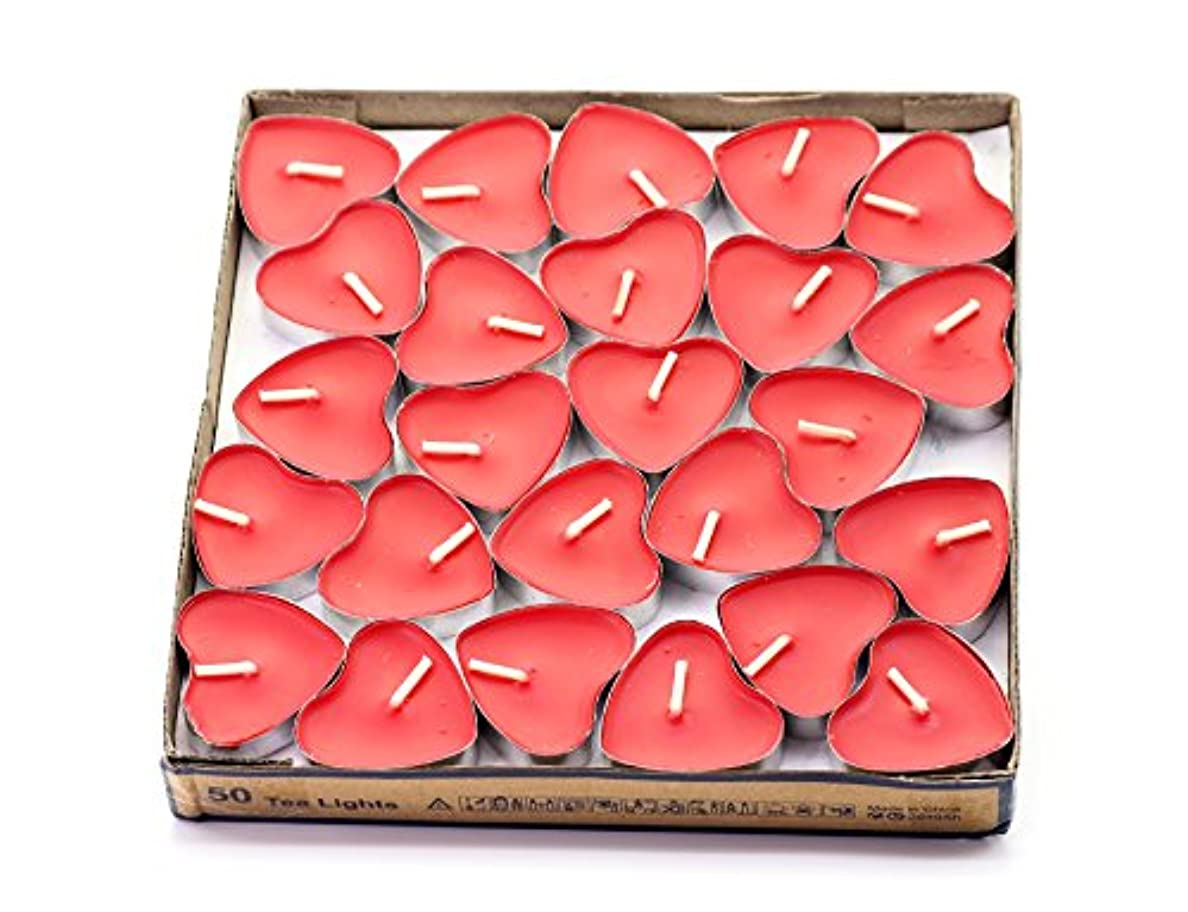 証明書予想外深い(Red(strawberry)) - Creationtop Scented Candles Tea Lights Mini Hearts Home Decor Aroma Candles Set of 50 pcs...