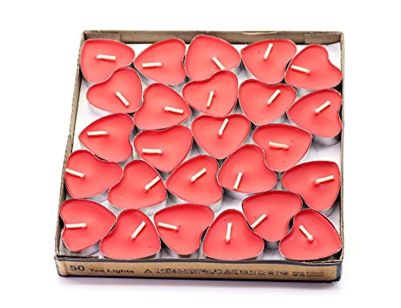 徒歩で放棄夜の動物園(Red(strawberry)) - Creationtop Scented Candles Tea Lights Mini Hearts Home Decor Aroma Candles Set of 50 pcs...