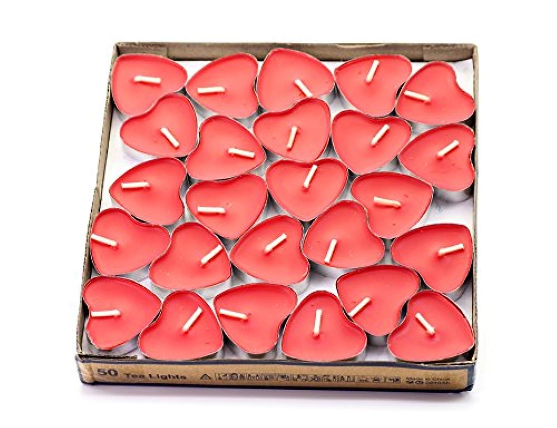 面衝突する宿泊(Red(strawberry)) - Creationtop Scented Candles Tea Lights Mini Hearts Home Decor Aroma Candles Set of 50 pcs...