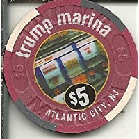 $ 5 Trump Marina Marina Club ObsoleteカジノチップAtlantic City New Jersey