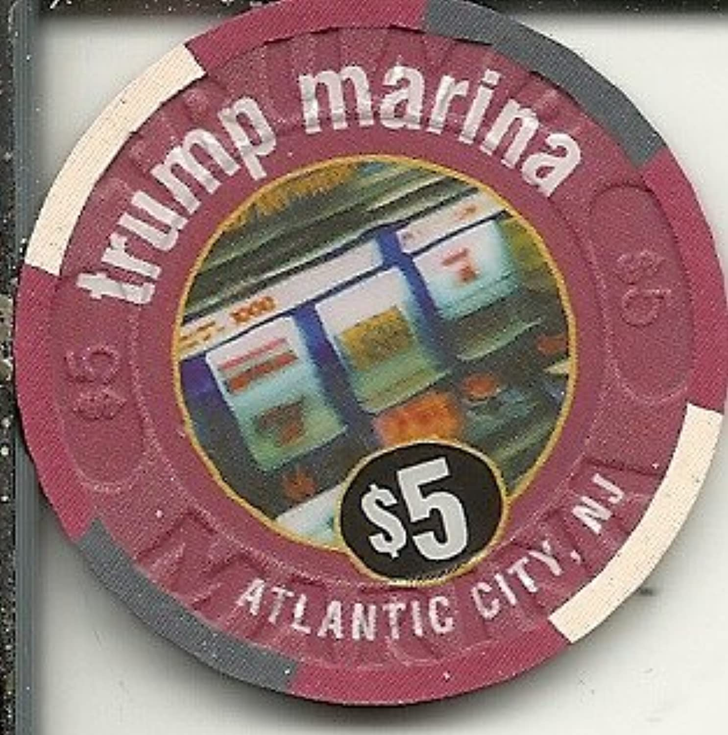 $ 5 Trump Marina Marina Club ObsoleteカジノチップAtlantic City New Jersey
