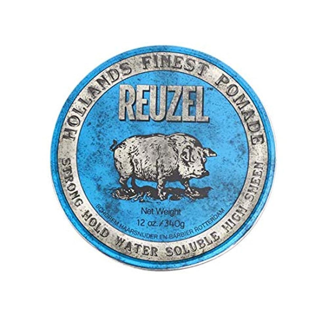 夜明け頑固な口頭ルーゾー(REUZEL) ストロングホールド ブルー HIGH SHINE 340g