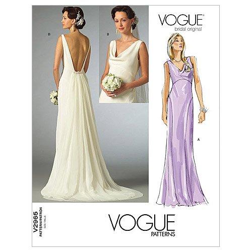 【vogue patterns】ウェディングドレス型紙 サイズ:US4-6-8