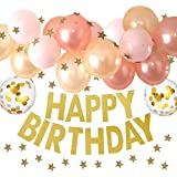 manaparty(マナパーティ)誕生日 飾り付け 風船 バルーン ガーランド デコレーション セット デコレーション manapa02 (ピンク)
