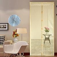 蚊防フルフレーム velcro 磁気網戸, 画面ドア メッシュ家大型メッシュ スクリーン夏スナップは自動的にシャット ダウン-D 90x205cm(35x81inch)