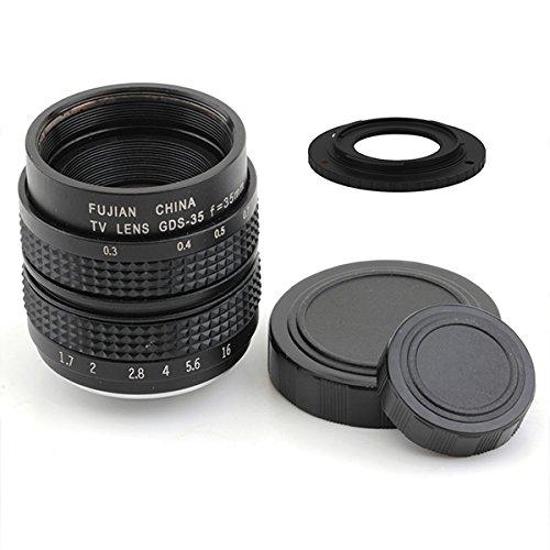 (バシュポ) Pixco CCTVレンズ 25mm f/1.4 Cマウントテレビカメラレンズ - Pentax Q カメラ ( ブラック ) +16 mmC型マウントアダプターはNikon 1 J5 J4 S2 V3 AW1 J3 J2 J1 V2 S1 V1カメラに適用しています