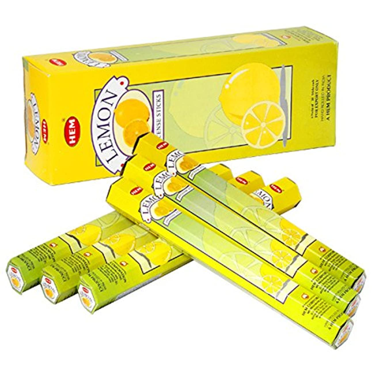 イブニング勇気のある再生可能HEM(ヘム) レモン LEMON スティックタイプ お香 6筒 セット [並行輸入品]