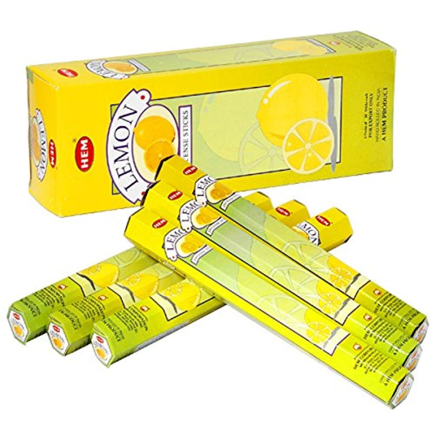 実施する寝てる勤勉なHEM(ヘム) レモン LEMON スティックタイプ お香 6筒 セット [並行輸入品]