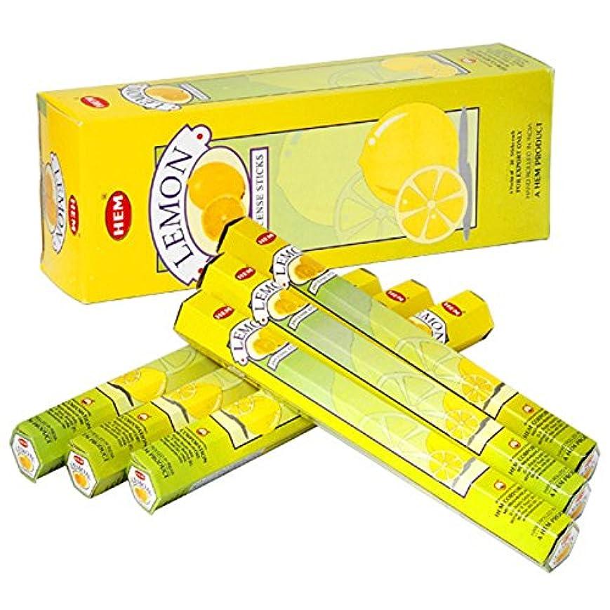抑制とんでもないのりHEM(ヘム) レモン LEMON スティックタイプ お香 6筒 セット [並行輸入品]