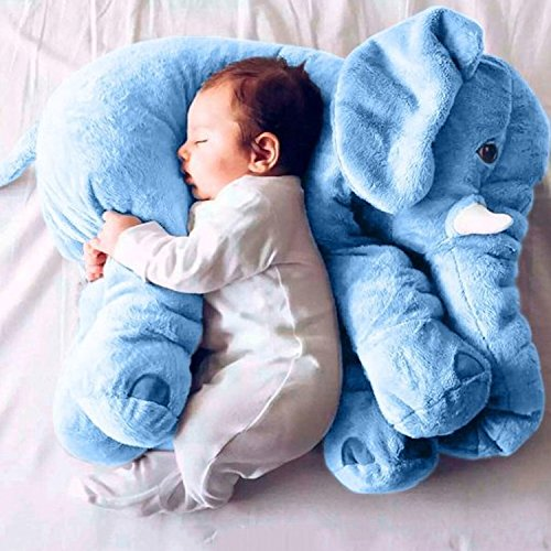 リアルぬいぐるみ アフリカゾウ/象 Elephant Plush Toys 特大 インテリア Birthday Gift  キッズ子供 おもちゃ 動物 ぬいぐるみ  60cm (ブルー)