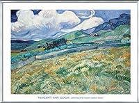ポスター フィンセント ファン ゴッホ Landscape from Saint-Remy 1889 額装品 アルミ製ベーシックフレーム(シルバー)
