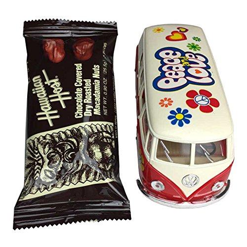 [해외]발렌타인 선물 클래식 폭스 바겐 버스 미니 × 초코 바 세트/Valentine Gift Classical Wagen Bus Minicar × Chocolate Bar Set
