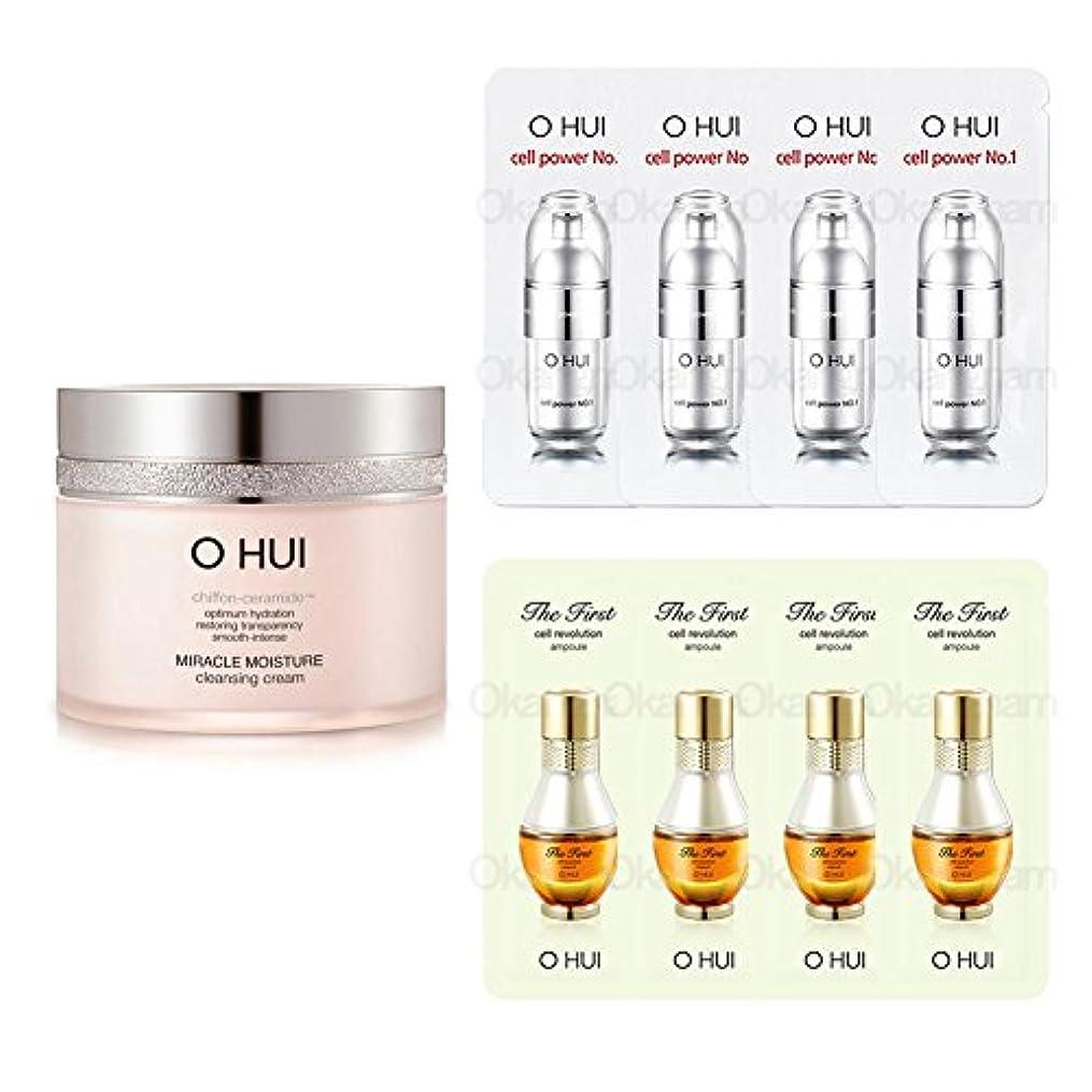 達成可能蜜逃げる[オフィ/ O HUI]韓国化粧品 LG生活健康/OHUI Miracle Moisture Cleansing Cream/ミラクル モイスチャー クレンジング クリーム200ml +[Sample Gift](海外直送品)