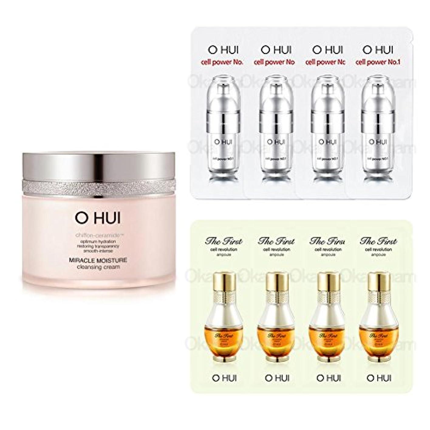 右遊び場感じ[オフィ/ O HUI]韓国化粧品 LG生活健康/OHUI Miracle Moisture Cleansing Cream/ミラクル モイスチャー クレンジング クリーム200ml +[Sample Gift](海外直送品)