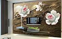 Yosot カスタムの 3d立体の壁紙に設定するには、リビングルームにベッドルームのテレビの背景の壁紙のために、大理石や花-400cmx280cm