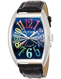 [フランク三浦]FRANKMIURA 腕時計 六号機 マグナム 革ベルト カラフル ブラック FM06K-CRB メンズ