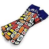 メンズ 足袋ソックス 足袋靴下 おもしろ柄から和柄まで!(NAGOMI MODERNシリーズ/10種類) (寿司sushi)