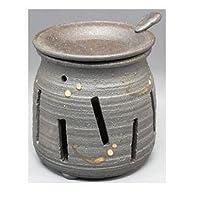 常滑焼 カ39-07 茶香炉焜清窯 焼締め   ロウソク1ヶ付 径9×9.7
