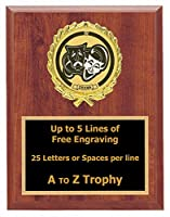 Drama Plaque Awards 6 x 8 Wood Theatre Trophies Acting Trophy Free Engraving
