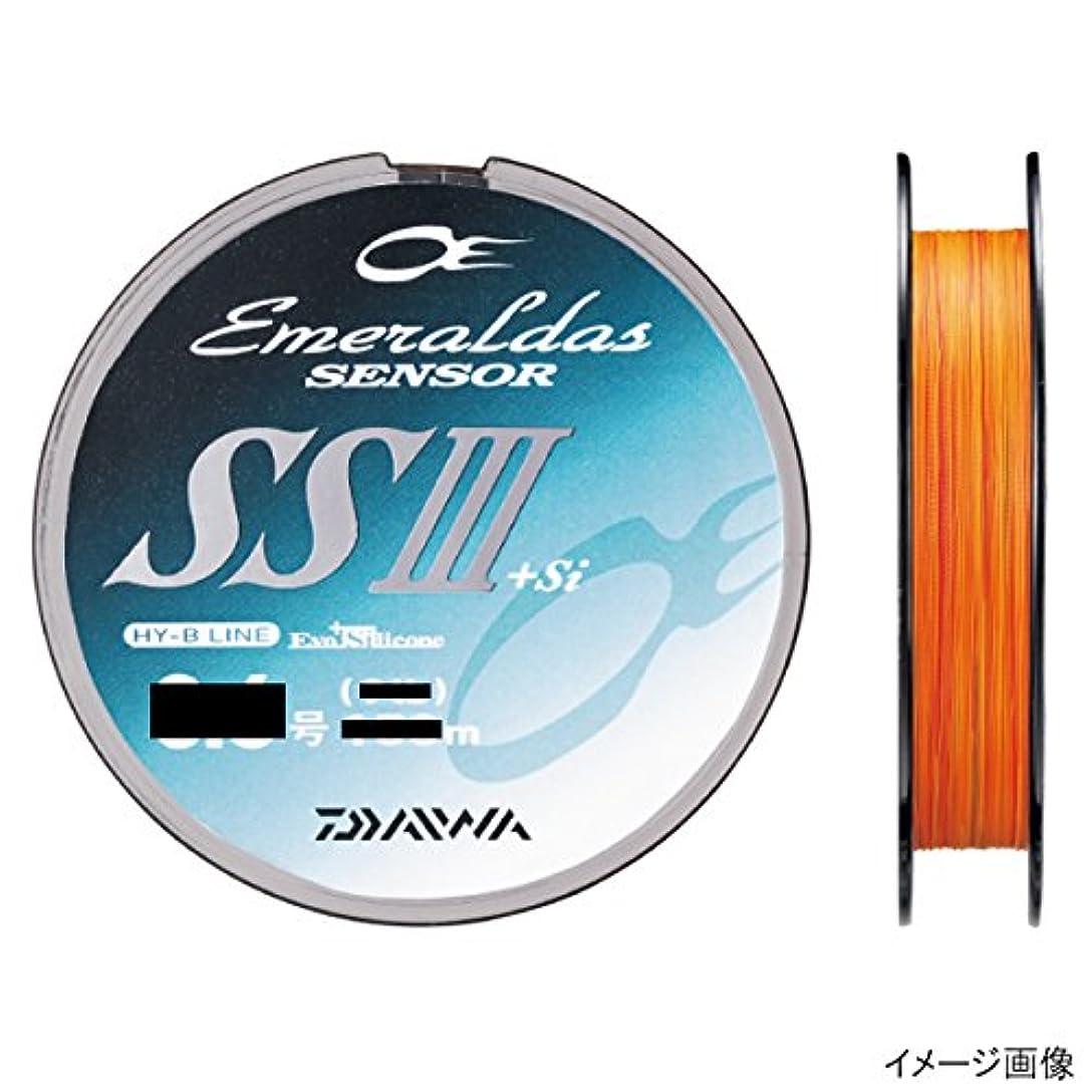 財団判決ロッカーダイワ(Daiwa) PEライン エメラルダスセンサー SS III +Si 200m 0.8号 11lb オレンジ