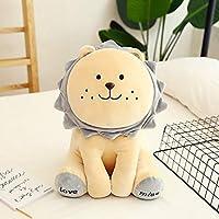 ぬいぐるみ サンシャイン人形玩具ライオンのベルベットの森の人形の枕子供 子供の誕生日プレゼント (Color : YELLOW, Size : 40cm)