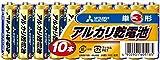 三菱電機 アルカリ乾電池(シュリンクパック) 単3形 10本パック LR6N/10S()