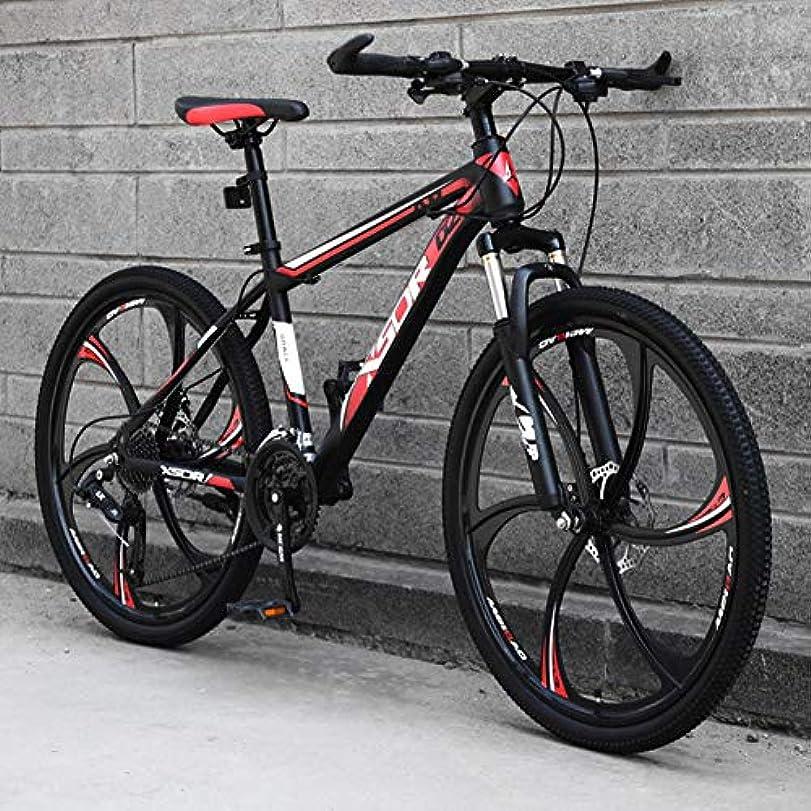 空虚管理する耳成人マウンテンバイク、24 /マウンテン自転車21/24/27スピード自転車フォークサスペンションMTB、デュアルディスクブレーキ26in