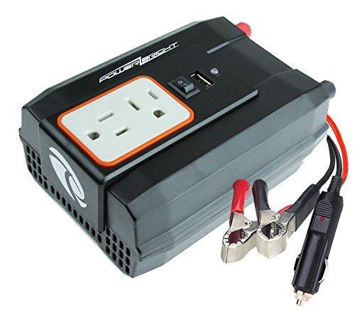 Power Bright XR400-12 Power Inverter 400 Watt 12 Volt DC To 110 Volt AC with USB Charging Port [並行輸入品]