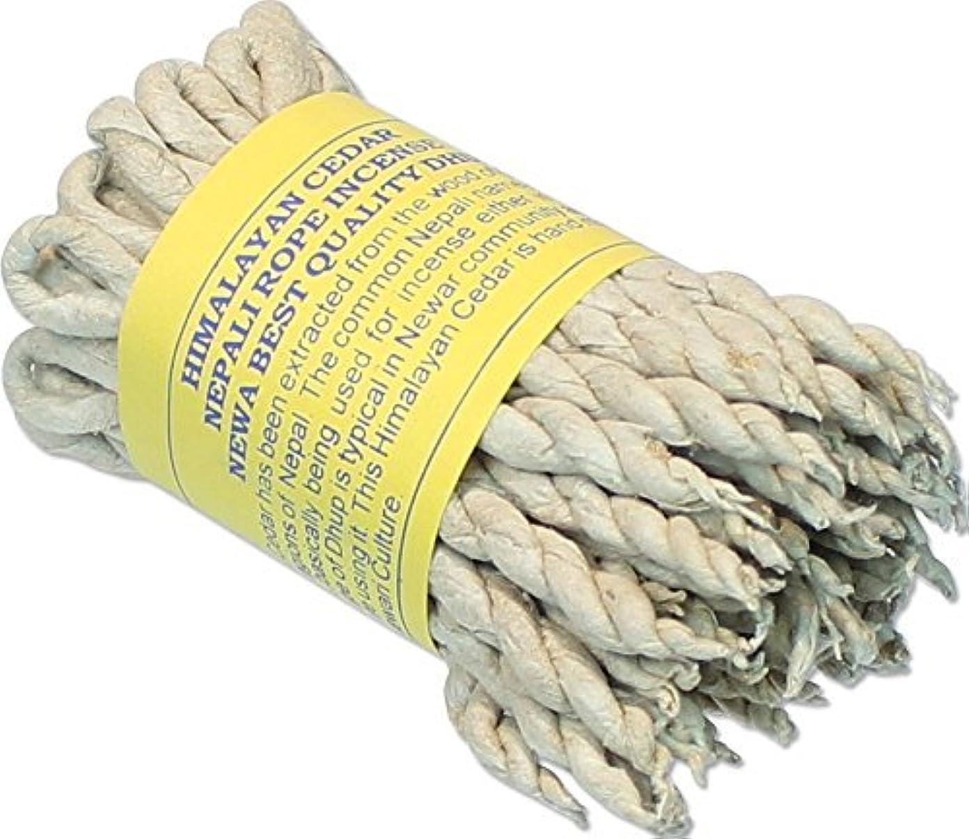 放棄する典型的な錫Himalayan Cedar Incenseロープ