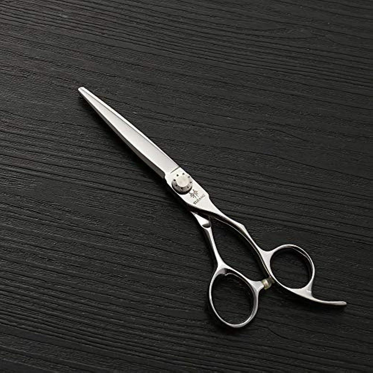 書士エイリアン見物人理髪用はさみ 6インチ美容院プロフェッショナルステンレス鋼理髪ツール、440 c新しいスタイルフラットシアーヘアカット鋏ステンレス理容鋏 (色 : Silver)