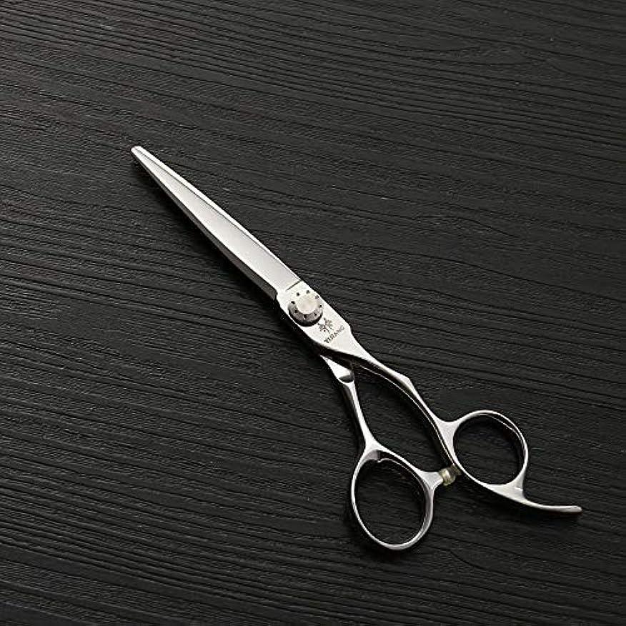 ドキドキ静的粉砕する440C新しいスタイルフラットせん断、6インチ美容院プロフェッショナルステンレススチール理髪ツール ヘアケア (色 : Silver)