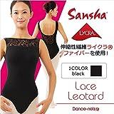 Sansha レオタード キャミソール レースアップ D2517 5 ブラック