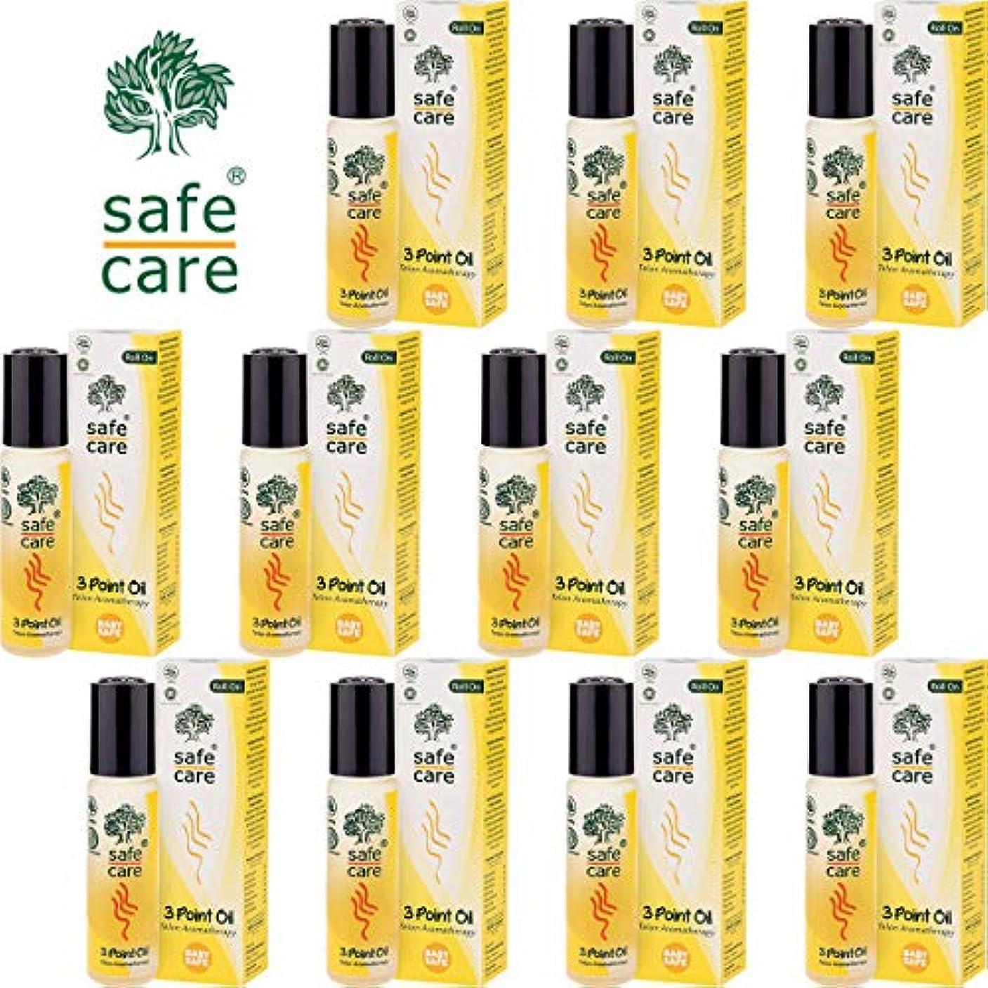 メガロポリス継承呼び出すSafe Care セーフケア Aromatherapy Telon 3Point Oil アロマテラピー リフレッシュオイル テロン3ポイントオイル ロールオン 10ml×11本セット [海外直送品]