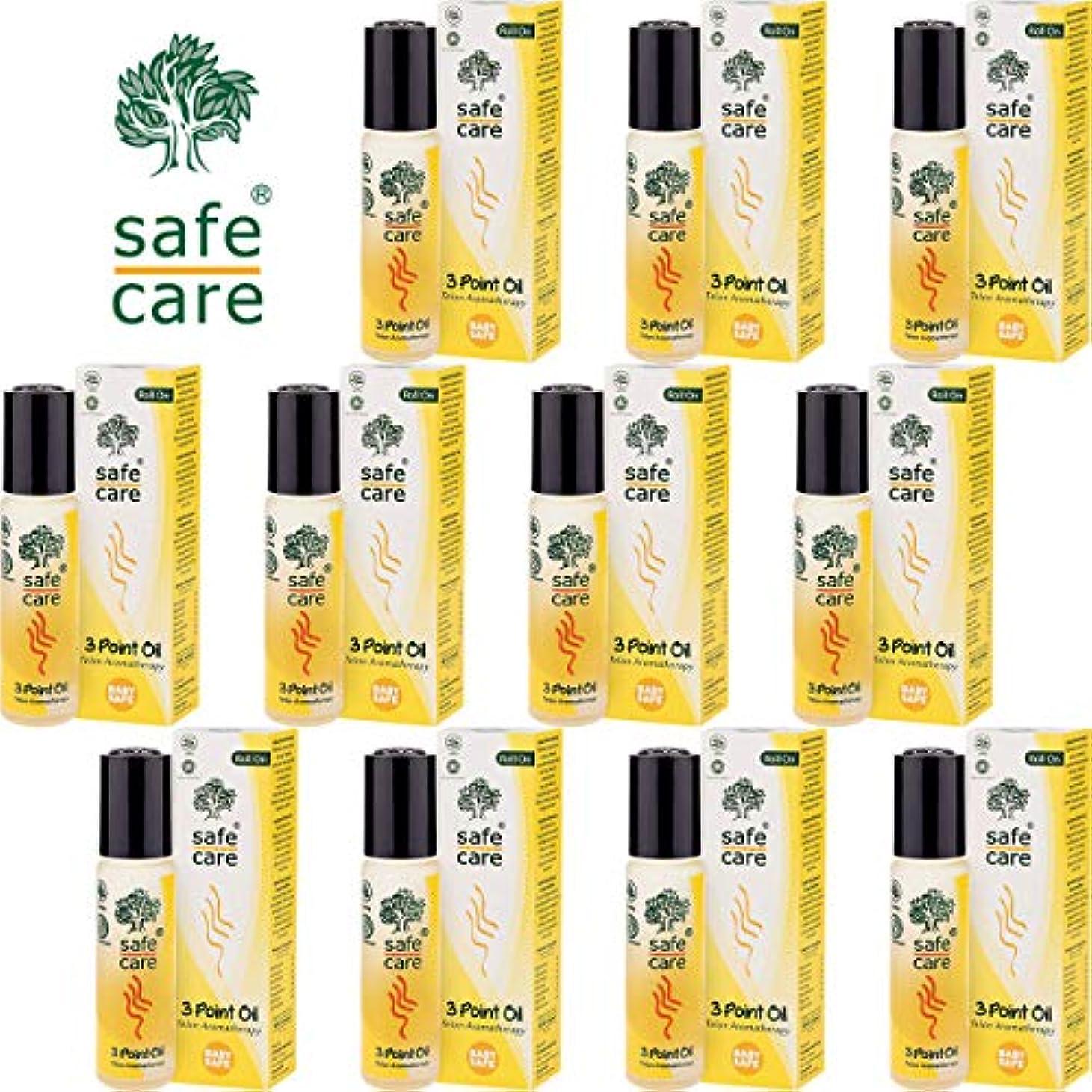 繊維鷲翻訳するSafe Care セーフケア Aromatherapy Telon 3Point Oil アロマテラピー リフレッシュオイル テロン3ポイントオイル ロールオン 10ml×11本セット [海外直送品]