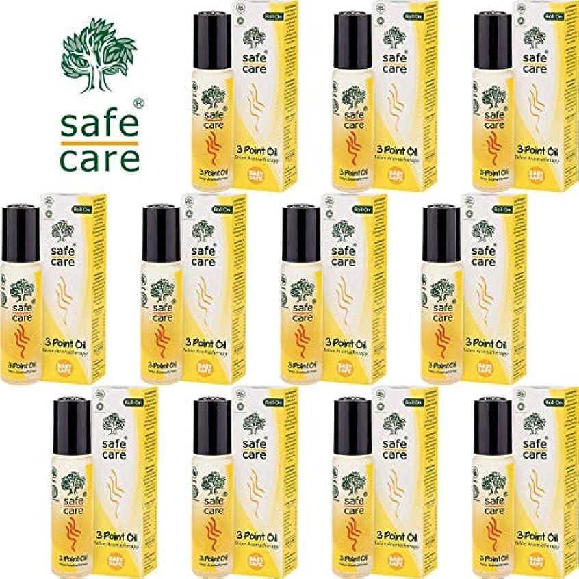 スモッグ肥料オーケストラSafe Care セーフケア Aromatherapy Telon 3Point Oil アロマテラピー リフレッシュオイル テロン3ポイントオイル ロールオン 10ml×11本セット [海外直送品]
