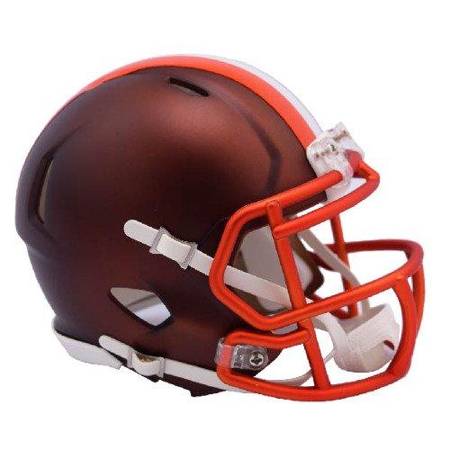 Riddell(リデル) クリーブランド・ブラウンズ ブレイズ レボリューション スピード ミニ フットボール ヘルメット -