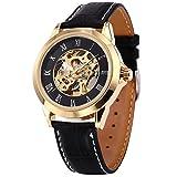 [エーエムピーエム24]AMPM24 ローマ数字 メンズ スケルトン 自動巻き 自動機械式 アナログ レザー 腕時計 PMW127