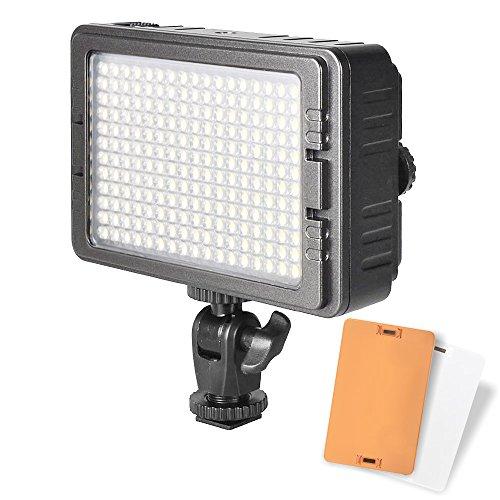 UTEBIT 照明 撮影ライト LED 204球 ビデオライト 高輝度 1440ルーメン 定常光ライト 双色温度 5500K / 3200K for ニコン キャノン ソニー 一眼レフ ビデオカメラ 用 撮影用ライト 写真撮影 撮影照明 ビデオ撮影 C-204 / PT-204