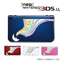 New ニンテンドー 3DS LL 対応 カバーケース ココペリ 白 幸せを呼ぶ笛 笑顔 平和 ハート 四葉のクローバー 黒Ver 不運を退け幸せな方向へ導く