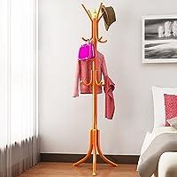 フロアハンガー、ベッドルームリビングルーム衣類ラック、スチールハンギングラック、シンプルモダンハンガー、シンプルコートラック ( 色 : オレンジ )