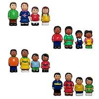 "Get Ready Kids 5""多文化Famly Figuresセットof 16"