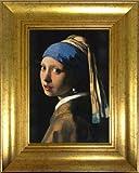 フェルメール 真珠の耳飾りの少女 アートポスター+ヴィンテージフレーム付 BM-1001FR