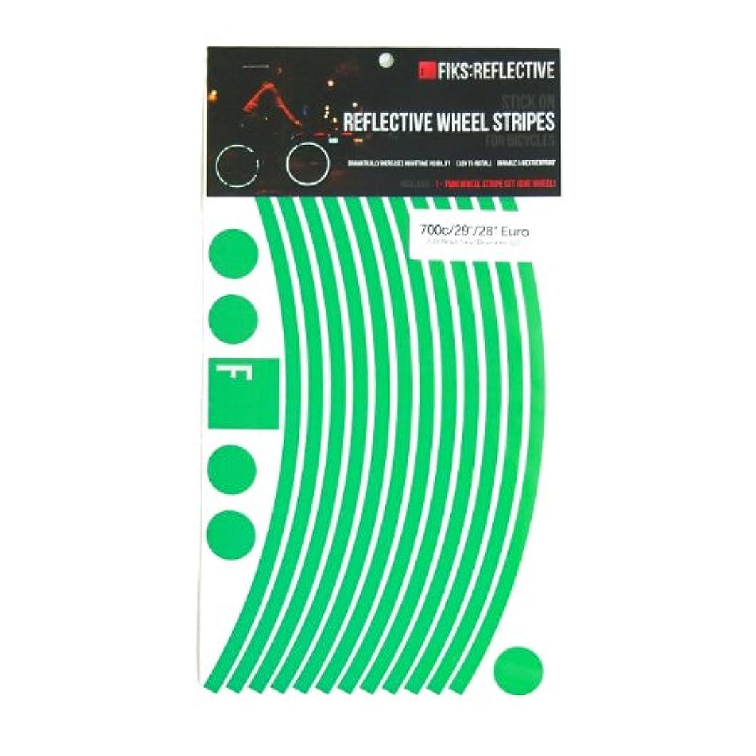 閉じる軽蔑部門Fiks:Reflective(フィックスリフレクティブ) 自転車用 高反射テープ 700C専用 テープ幅7mm(標準)タイプ 【グリーン】