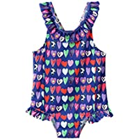 Nobrand Fashionable Children's Bathing Suits Girls Ruffled Swimsuits Children's Cute Cartoon one-Piece Swimsuits Quick-Drying