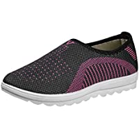 Qootent Women Flat Shoes Loafers Plus Size Cotton Flats Casual Walking Sneakers